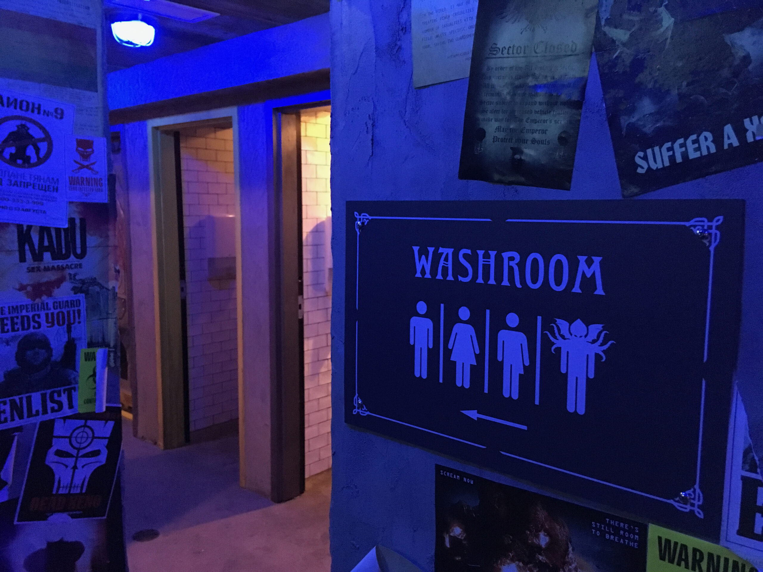 Washrooms at Storm Crow Manor