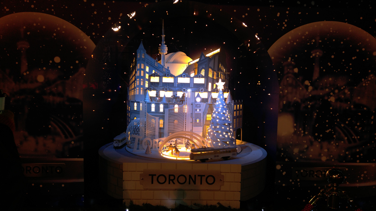 Toronto Hudson Bay Christmas Windows